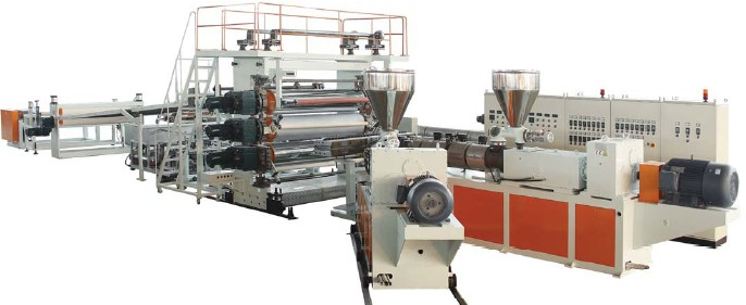 wpc solid sheet extrusion line