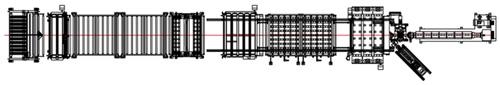 линия экструзии сотовых листов из пликарбоанта